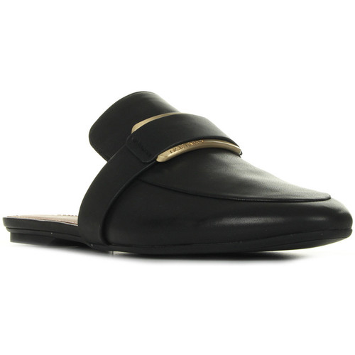 Zapatos Mujer Zuecos (Clogs) Calvin Klein Jeans Olivette Cow Silk Negro