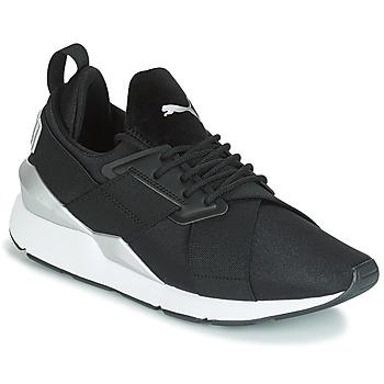 Zapatos Mujer Zapatillas bajas Puma WN MUSE SATIN II.BLACK Negro