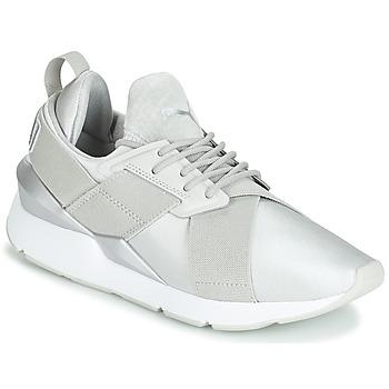 Zapatos Mujer Zapatillas bajas Puma WN MUSE SATIN II.GRAY Gris