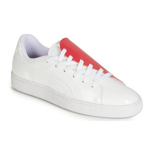 Zapatos Mujer Zapatillas bajas Puma WN BASKET CRUSH.WH-HIBISCU Blanco