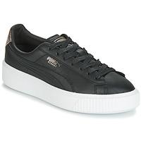 Zapatos Mujer Zapatillas bajas Puma WN SUEDE PLATFM OPULENT.BL Negro