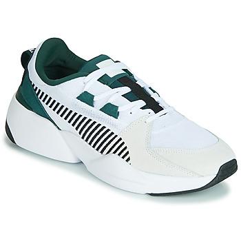Zapatos Hombre Zapatillas bajas Puma ZETA SUEDE.WHITE-PONDEROSA Blanco
