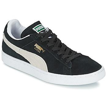 Zapatos Zapatillas bajas Puma SUEDE CLASSIC Negro / Blanco