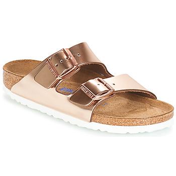Zapatos Mujer Zuecos (Mules) Birkenstock ARIZONA SFB Oro