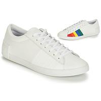 Zapatos Mujer Zapatillas bajas Le Coq Sportif FLAG Blanco / Multicolor
