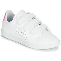 Zapatos Niña Zapatillas bajas Le Coq Sportif COURTSET PS Blanco / Rosa