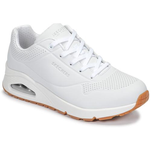 Zapatos Mujer Zapatillas bajas Skechers UNO Blanco
