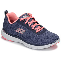 Zapatos Mujer Fitness / Training Skechers FLEX APPEAL 3.0 Marino / Rosa