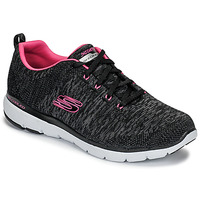 Zapatos Mujer Fitness / Training Skechers FLEX APPEAL 3.0 Negro / Rosa