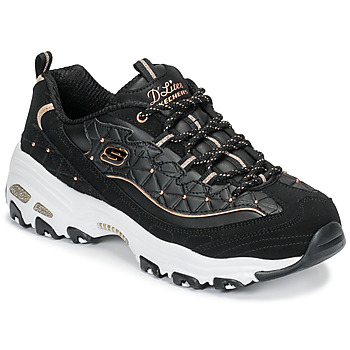 Zapatos Mujer Zapatillas bajas Skechers D'LITES GLAMOUR FEELS Negro