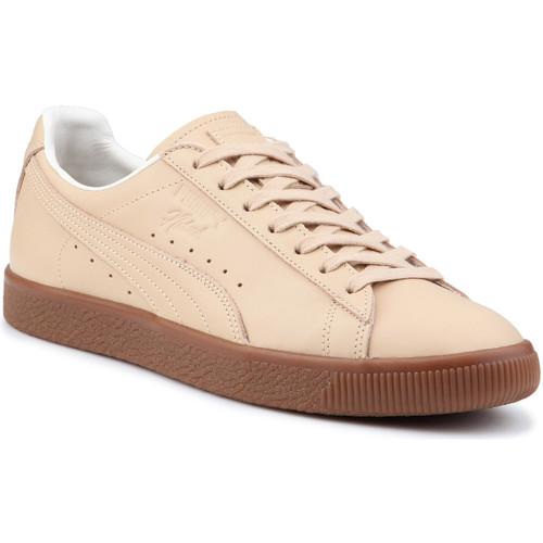 Zapatos Hombre Zapatillas bajas Puma Lifestyle shoes  Clyde Veg Tan Naturel 364451 01 beige