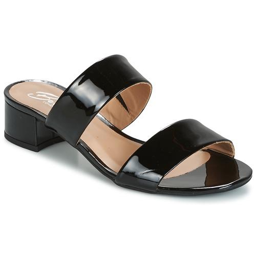 Zapatos Mujer Zuecos (Mules) Betty London BAMALEA Negro / Barniz