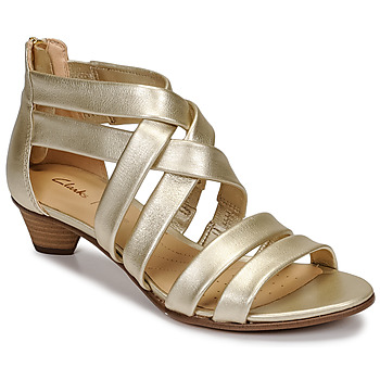 Zapatos Mujer Sandalias Clarks MENA SILK Champaña