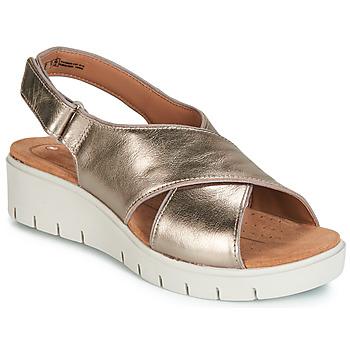 Zapatos Mujer Sandalias Clarks UN KARELY SUN Oro