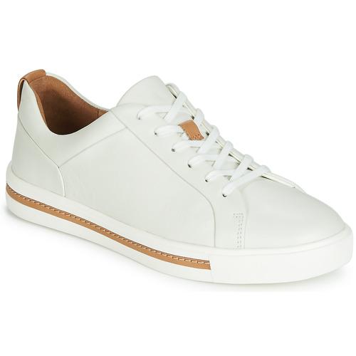 Clarks Zapatillas Maui Bajas Blanco Zapatos Lace Mujer Un XuPOikZ