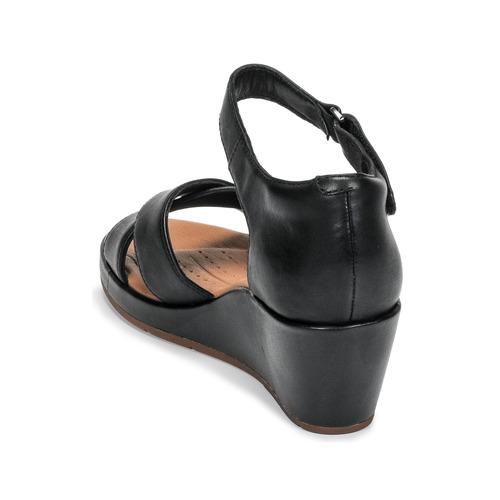 Un Plaza Sandalias Zapatos Clarks Mujer Cross Negro lTFKJu1c3