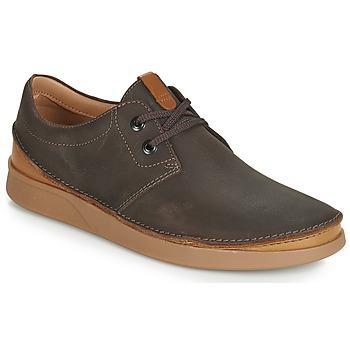 Zapatos Hombre Derbie Clarks OAKLAND LACE Marrón