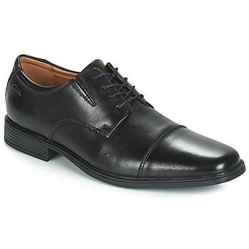 Zapatos Hombre Derbie Clarks TILDEN CAP Negro