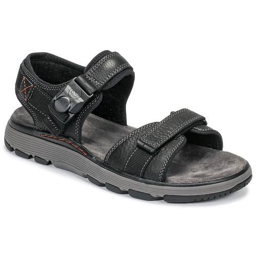 Zapatos Hombre Sandalias Clarks UN TREK PART Negro