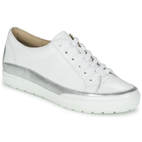 Zapatos Mujer Zapatillas bajas Caprice BUSCETI Blanco / Plateado
