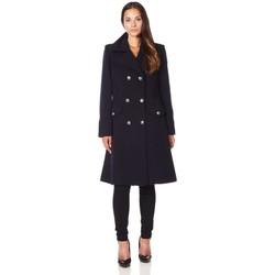 textil Mujer Abrigos De La Creme Abrigo de invierno de lana de cachemira militar Black