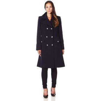 textil Mujer Abrigos De La Creme - Abrigo de invierno de lana de cachemira militar negro de las Black