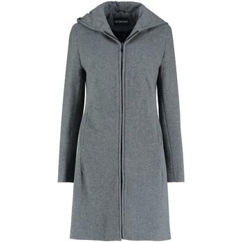 textil Mujer Abrigos De La Creme - Abrigo de invierno con capucha de lana gris cachemir para muj Grey