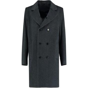 textil Abrigos De La Creme - Chaqueta corta de lana de cachemir en lana de invierno para h Grey