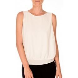 textil Mujer Camisetas sin mangas Vero Moda BELFAST SL TOP EA écru Beige