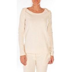 textil Mujer Jerséis Petit Bateau Sweat Shirt en coton enflammé beige coquille Beige