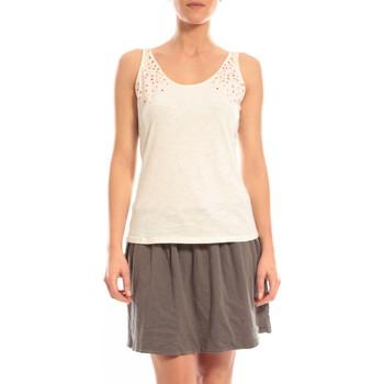textil Mujer Camisetas sin mangas Blune Débardeur Lendemain de fête LF-DF01E13 Écru Beige