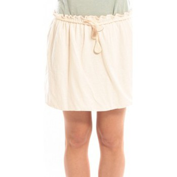 textil Mujer Faldas Blune Jupe Lendemain de Fête JP-01E13 Écrue Beige