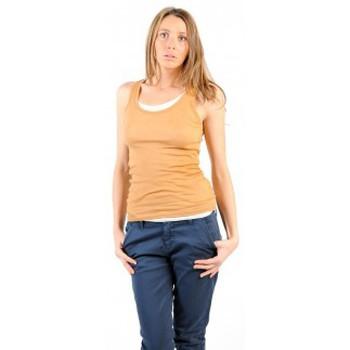 textil Mujer Camisetas sin mangas American Vintage DEBARDEUR MAS00E11 CUMIN Amarillo