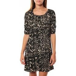 textil Mujer Vestidos cortos Vero Moda DRESS LEAH 3/4 SHORT EX7 Black/LATTE Negro
