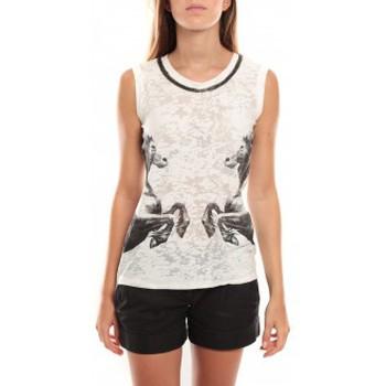 textil Mujer Camisetas sin mangas Vero Moda Lee SL Top 96913 Noir/Blanc Negro
