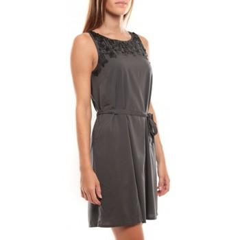 textil Mujer Vestidos cortos Vero Moda Virgo S/L Robe 97034 Anthracite Gris