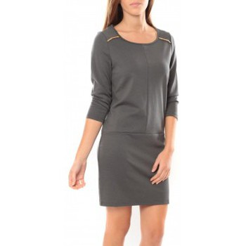 textil Mujer Vestidos cortos Vero Moda Greg 3/4 Short Dress 10098979 Anthracite Gris