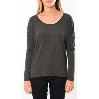 textil Mujer Camisetas manga larga Vero Moda Kisha ls Top 10099844 Anthracite Gris