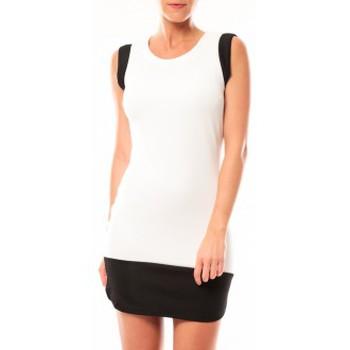 textil Mujer Vestidos cortos Vero Moda Signe S/L Mini Dress 10111107 Blanc/Noir Negro