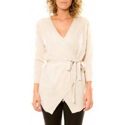 textil Mujer Chaquetas de punto Vision De Reve Vision de Rêve Cardigan 12040 Écru Beige