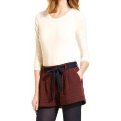 textil Mujer Camisetas manga larga Petit Bateau T-shirt Manches Longues 10622 522 Écru Beige