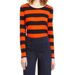 textil Mujer Camisetas manga larga Petit Bateau Tee Shirt ML 112175921 Orange/Bleu Naranja