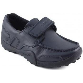 Zapatos Niño Zapatillas bajas Geox JW SNAKEN COLEGIAL MARINO