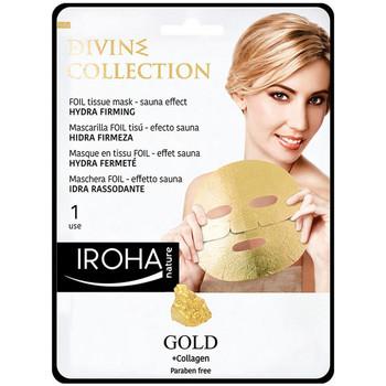Belleza Mujer Mascarillas & exfoliantes Iroha Nature Gold Tissue Hydra-firming Face Mask  1 use