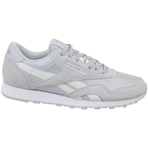 Zapatos Niños Zapatillas bajas Reebok Sport CL Nylon Skull Blanco,Grises