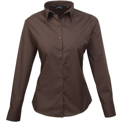 textil Mujer Camisas Premier PR300 Marrón
