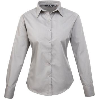 textil Mujer Camisas Premier PR300 Plata