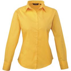 textil Mujer Camisas Premier PR300 Amarillo oscuro