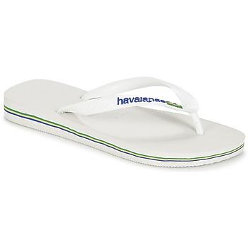 Zapatos Chanclas Havaianas BRASIL LOGO Blanco