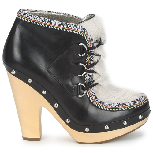 Boots BeigeNegro Mujer Mujer BeigeNegro Low Mujer Boots Low Low Boots 08wPXnkO